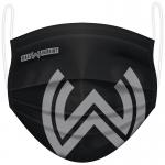 Gesichtsmaske im SVWW-Design schwarz