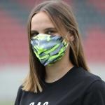 Maskenaufsatz Auswärtstrikot Upcycling